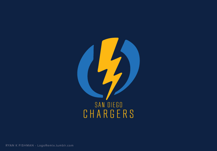 San Diego Chargers logo remixed with Electric logo