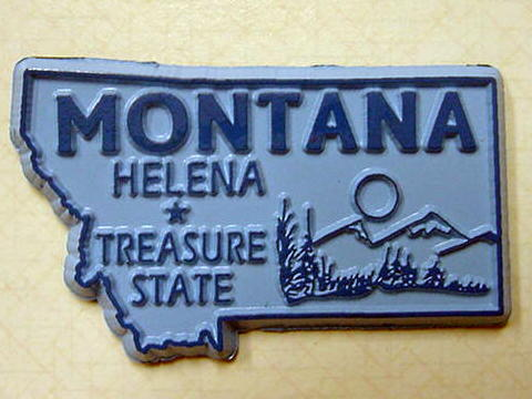 Montana State Outline Magnet