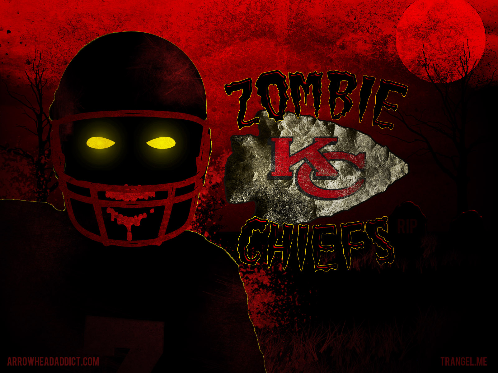 zombie chiefs wall paper
