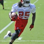 July 27, 2012; St. Joseph, MO, USA; Kansas City Chiefs running back Jamaal Charles (25) runs drills during training camp at Missouri Western State University. Mandatory Credit: Denny Medley-US PRESSWIRE