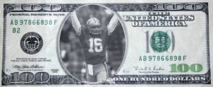 16 Joe Montana Dollar Bill