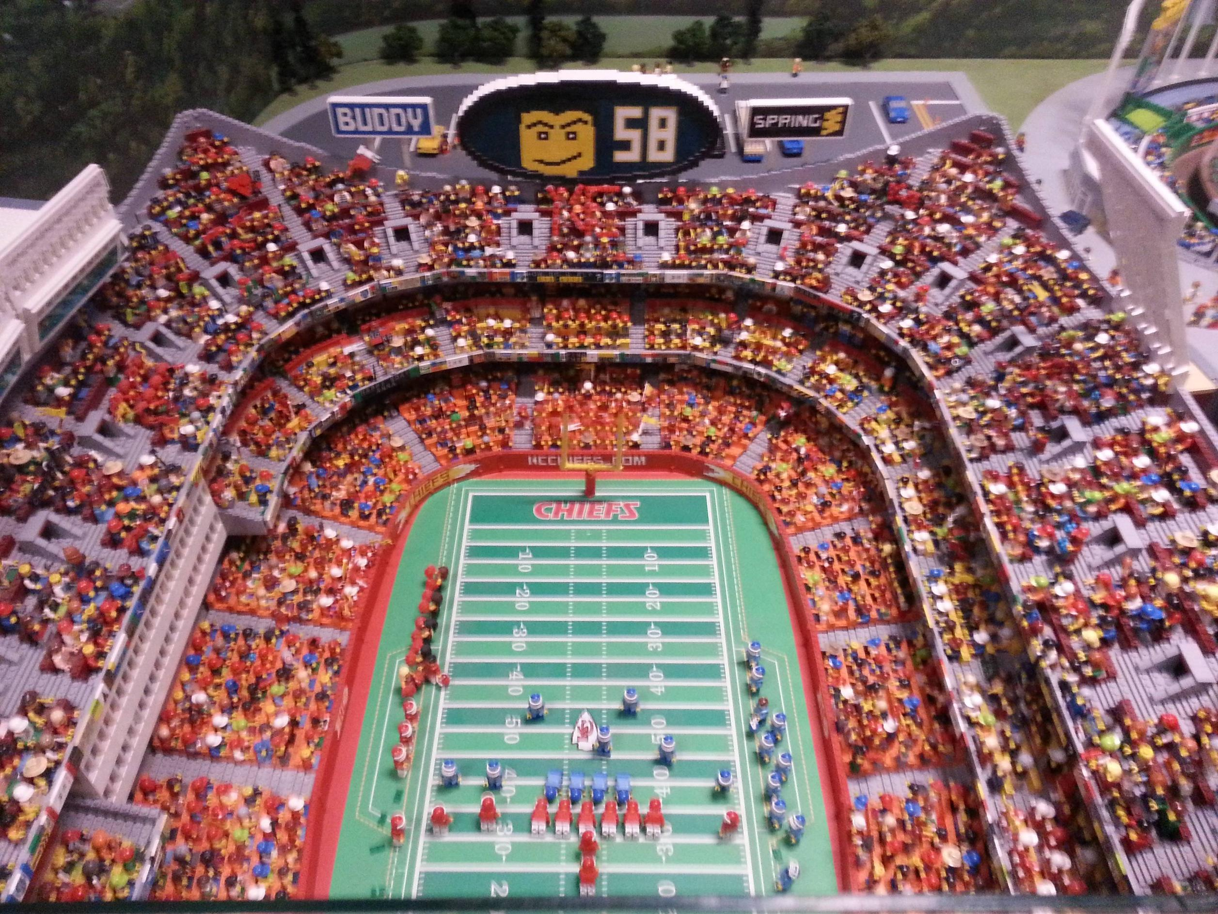 Arrowhead Stadium Made Completely Out Of Legos
