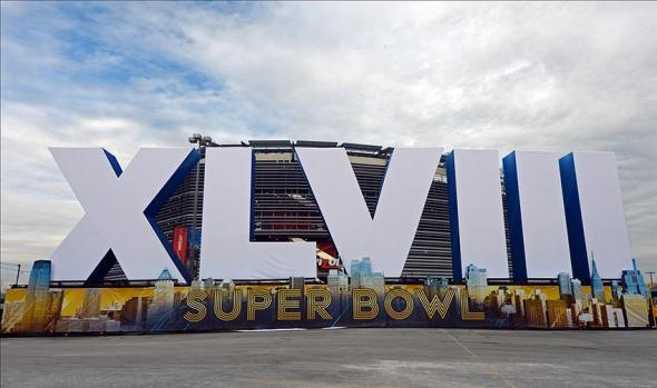 Feb 2, 2014; East Rutherford, NJ, USA; A general view of a roman numerals sculpture before Super Bowl XLVIII between the Seattle Seahawks and the Denver Broncos at MetLife Stadium. Mandatory Credit: Kirby Lee-USA TODAY Sports