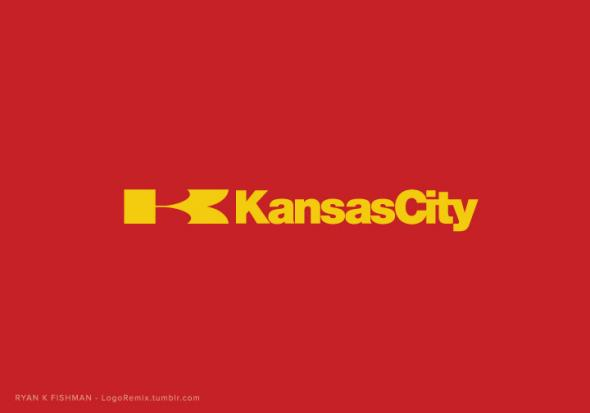 LogoRemix reimagined the Chiefs logo with Kawasaki's corporate logo.