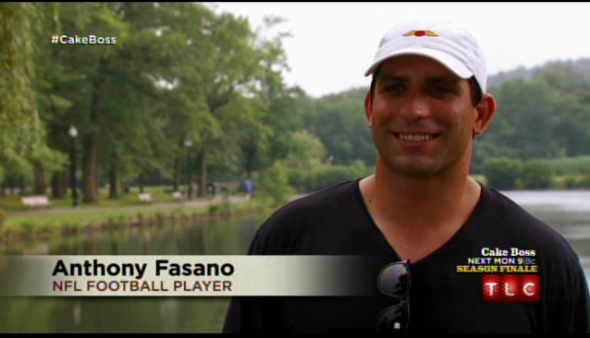 Anthony Fasano appeared on TLC's 'Cake Boss' last night to promote his foundation.