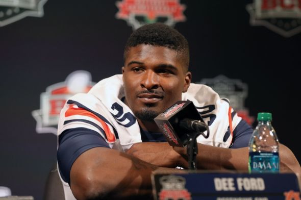 Jan 4, 2014; Newport Beach, CA, USA; Auburn Tigers cornerback Dee Ford (30) answers questions during Media Day at Newport Beach Marriott. Mandatory Credit: Matthew Emmons-USA TODAY Sports