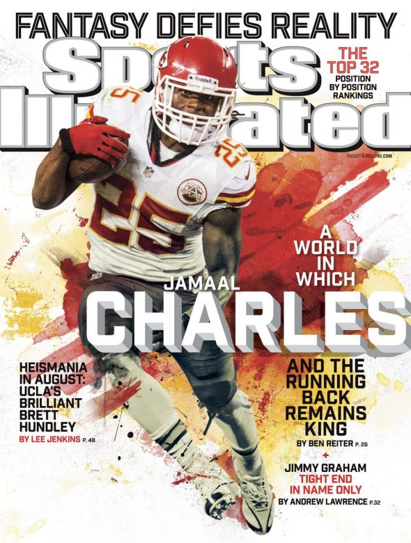 Jamaal Charles will be on the cover of SI. He is the number on rated running back for fantasy football this season.