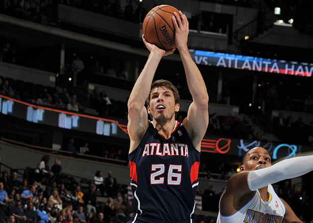 Kyle Korver extended his three-point streak to 78 games. (Bart Young/NBAE/Getty Images)
