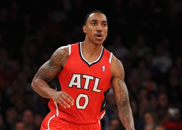 Atlanta Hawks point guard Jeff Teague was believed to be coveted by the New York Kniks, according to ESPN's Marc Stein. (Maddie Meyer/NBAE/Getty Images)