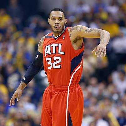 Mike Scott hit five 3-pointers and scored all of his 17 points off the bench in the second quarter to help the Hawks stun the top-seeded Pacers on Monday at Indiana to take a 3-2 series lead. (Photo Credit: Andy Lyons)