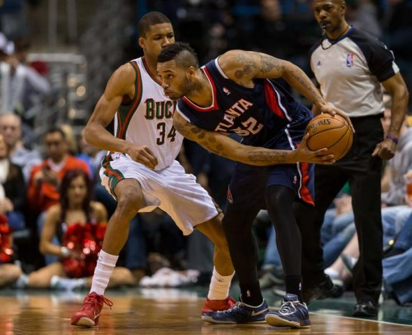 Mike Scott scored 17 points against the Bucks in the regular-season finale. (Mandatory Credit: Jeff Hanisch-USA TODAY Sports)
