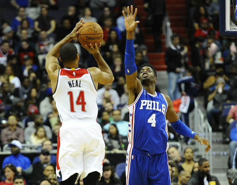 Nerlens-noel-gary-neal-nba-philadelphia-76ers-washington-wizards