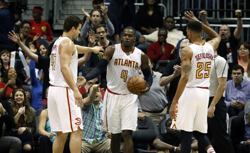 Mar 25, 2016; Atlanta, GA, USA; Atlanta Hawks forward <a rel=