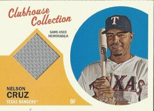 2012 Heritage Nelson Cruz Clubhouse Collection jersey