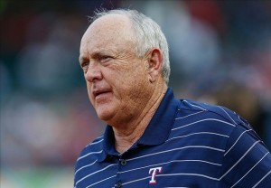 May 31, 2013; Arlington, TX, USA; Texas Rangers chief executive officer Nolan Ryan during the game against the Kansas City Royals at Rangers Ballpark in Arlington. Texas won 7-2. Mandatory Credit: Kevin Jairaj-USA TODAY Sports
