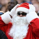 Dec 16, 2012; Arlington, TX, USA; Dallas Cowboys fan dressed as Santa Claus during the game aagainst the Pittsburgh Steelers at Cowboys Stadium. The Cowboys beat the Steelers 27-24 in overtime. Mandatory Credit: Matthew Emmons-USA TODAY Sports