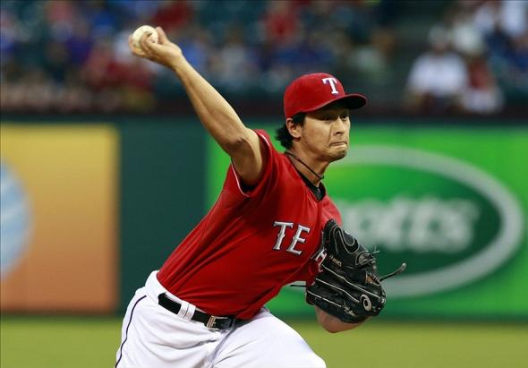 Yu Darvish Pitches for Your Texas Rangers