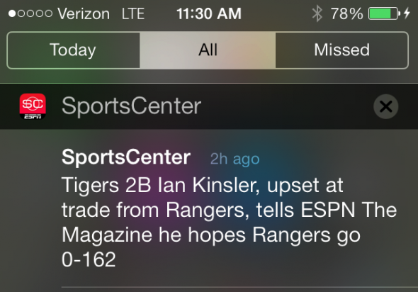 Ian Kinsler upset at Rangers trade