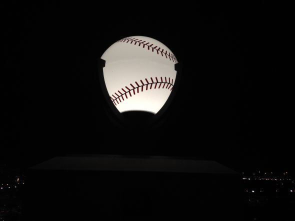 Lighting at Globe Life Park in Arlington.