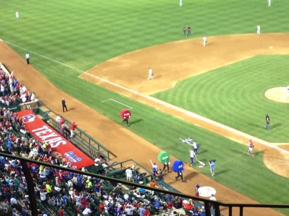 Dot Race at Globe Life Park - 4/1/2014