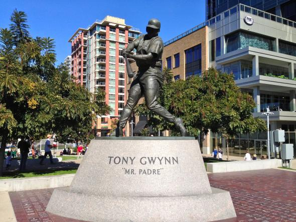 "Tony Gwynn ""Mr Padre"" Statue. Photo Credit: Bernie D'Amato - FanSided.com."