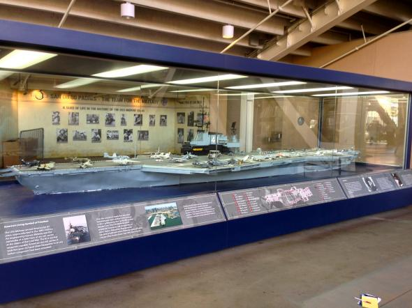 Replica of the USS Midway. Photo Credit: Bernie D'Amato - FanSided.com.
