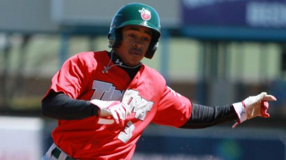 TinCaps' speedster Mallex Smith. Mandatory Credit: Emily Jones-MiLB.com