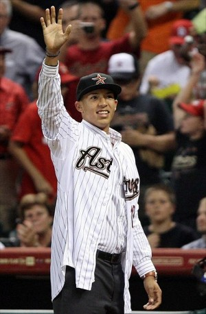 #8 prospect Carlos Correa - Credit: Troy Taormina-USA TODAY Sports