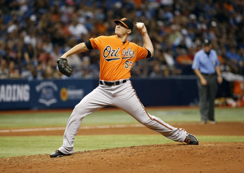Jul 16, 2016; St. Petersburg, FL, USA; Baltimore Orioles relief pitcher <a rel=