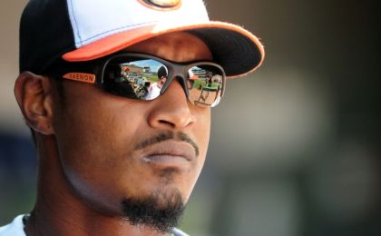 Sep 4, 2016; Baltimore, MD, USA; Baltimore Orioles outfielder Adam Jones (10) looks on prior to the game against the New York Yankees at Oriole Park at Camden Yards. Mandatory Credit: Evan Habeeb-USA TODAY Sports
