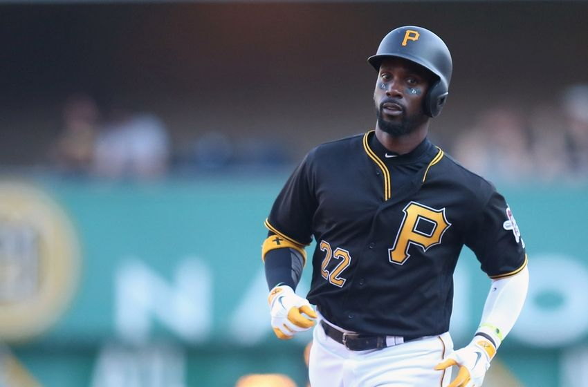 Sep 5, 2016; Pittsburgh, PA, USA;  Pittsburgh Pirates center fielder Andrew McCutchen (22) circles the bases on a two run home run against the St. Louis Cardinals during the fifth inning at PNC Park. Mandatory Credit: Charles LeClaire-USA TODAY Sports
