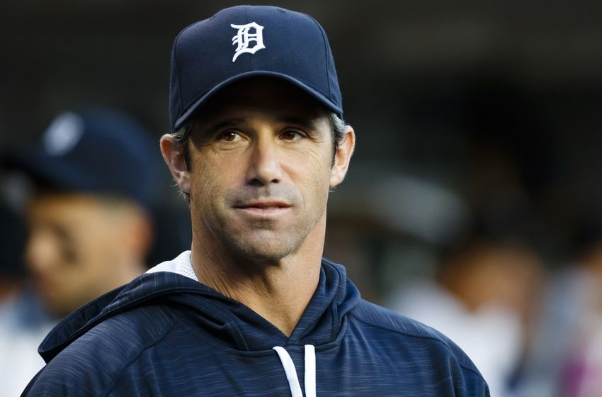 Sep 14, 2016; Detroit, MI, USA; Detroit Tigers manager Brad Ausmus (7) in the dugout prior to the game against the Minnesota Twins at Comerica Park. Mandatory Credit: Rick Osentoski-USA TODAY Sports