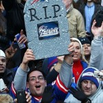 Feb 7, 2012; New York, NY, USA; New York Giants fans cheer during the Super Bowl XLVI victory celebration in downtown Manhattan. Mandatory Credit: Debby Wong-US PRESSWIRE
