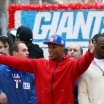 Feb 7, 2012; New York, NY, USA; New York Giants receivers Victor Cruz and Hakeem Nicks during the Super Bowl XLVI victory celebration in downtown Manhattan. Mandatory Credit: Debby Wong-US PRESSWIRE