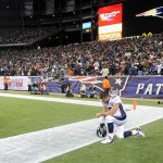 Jan 14, 2012, Foxborough, MA, USA; Denver Broncos quarterback Tim Tebow (15) kneels in prayer before the AFC Divisional playoff game against the New England Patriots at Gillette Stadium. Mandatory Credit: Kirby Lee/Image of Sport-US PRESSWIRE