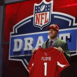 Apr 26, 2012; New York, NY, USA; Michael Floyd (Notre Dame) is introduced as the number thirteen overall pick to the Arizona Cardinals in the 2012 NFL Draft at Radio City Music Hall. Mandatory Credit: Jerry Lai-US PRESSWIRE