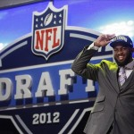 Apr 26, 2012; New York, NY, USA; Michael Brockers (LSU) is introduced as the number fourteen overall pick to the St. Louis Rams in the 2012 NFL Draft at Radio City Music Hall. Mandatory Credit: Jerry Lai-US PRESSWIRE