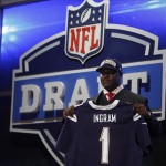 Apr 26, 2012; New York, NY, USA; Melvin Ingram (South Carolina) is introduced as the number eighteen overall pick to the San Diego Chargers in the 2012 NFL Draft at Radio City Music Hall. Mandatory Credit: Jerry Lai-US PRESSWIRE