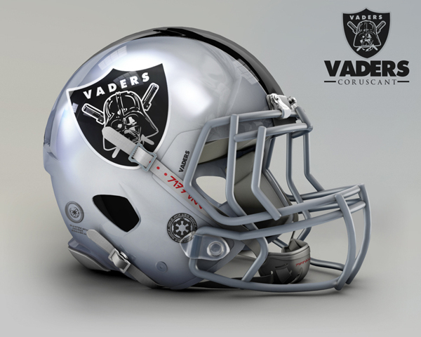 Oakland Raiders re-design to be the Oakland Vaders