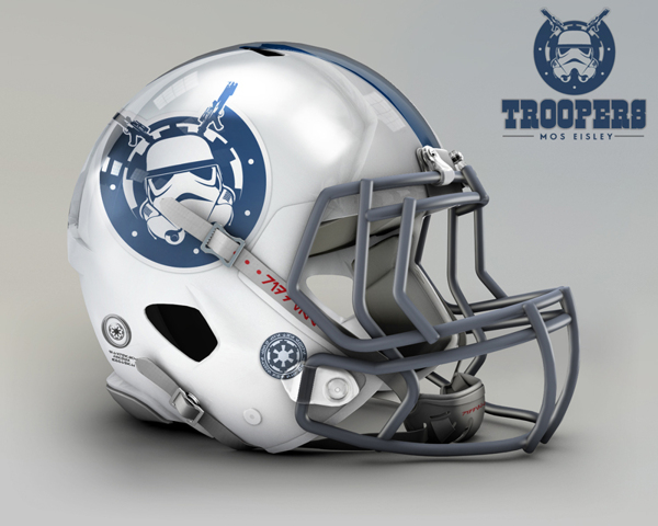 Indianapolis Colts re-designed to Indianapolis Troopers