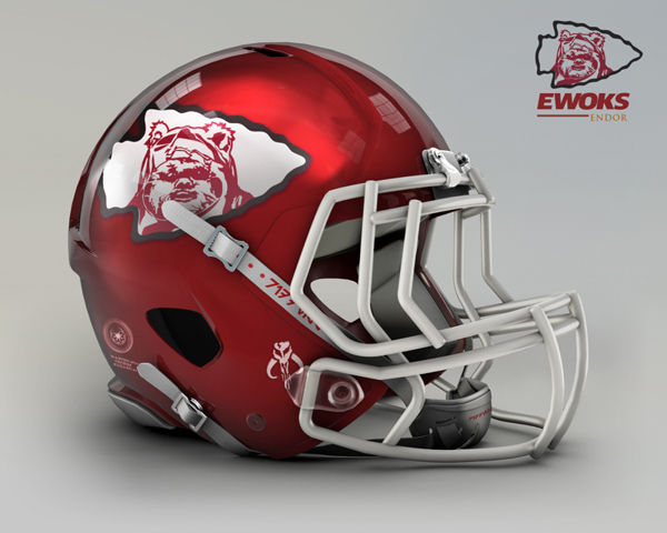 Kansas City Chiefs re-design to Kansas City Ewoks