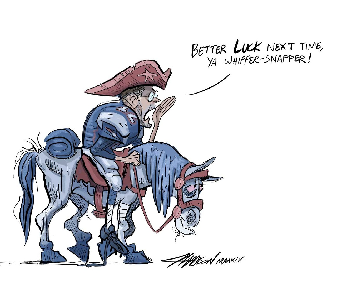 Tom Brady New England Patriots saying goodbye to Andrew Luck via Austin Madison Pixar Artist