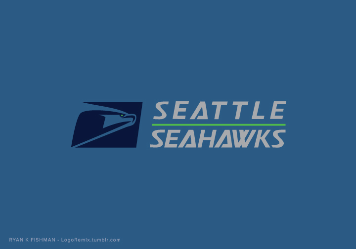 Seattle Seahawks mixed with USPS