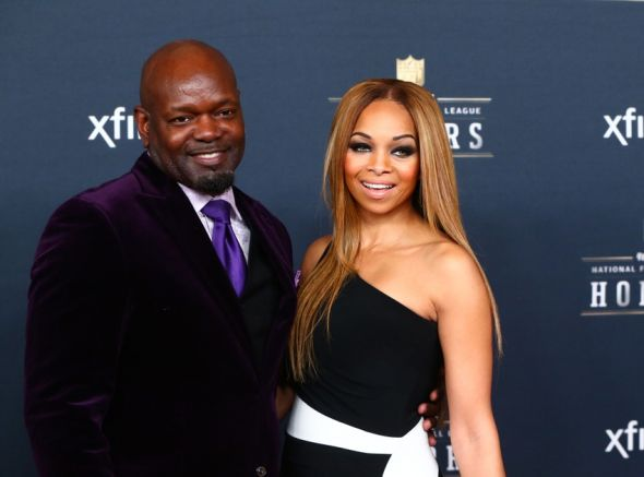 Jan 31, 2015; Phoenix, AZ, USA; Dallas Cowboys former running back Emmitt Smith (left) and wife Patricia Southall on the red carpet prior to the NFL Honors award ceremony at Symphony Hall. Mandatory Credit: Mark J. Rebilas-USA TODAY Sports