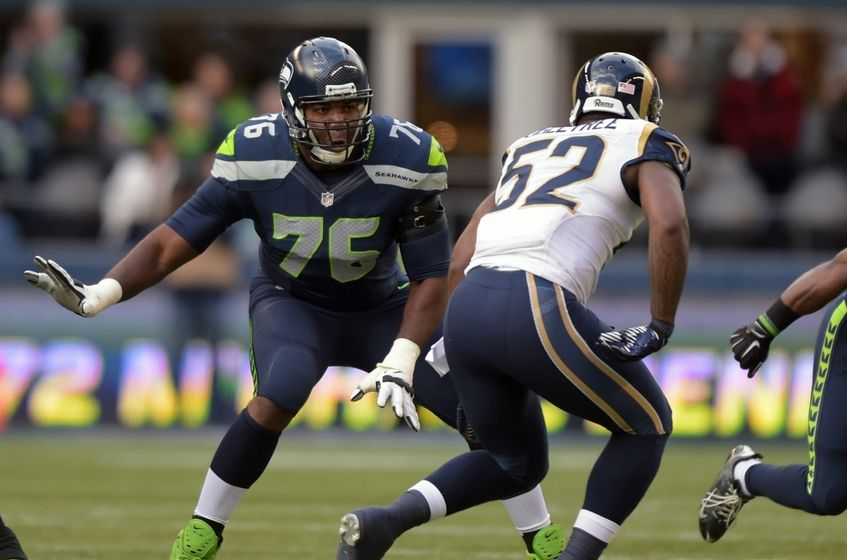Seahawks left tackle Russell Okung to visit the Giants and Lions