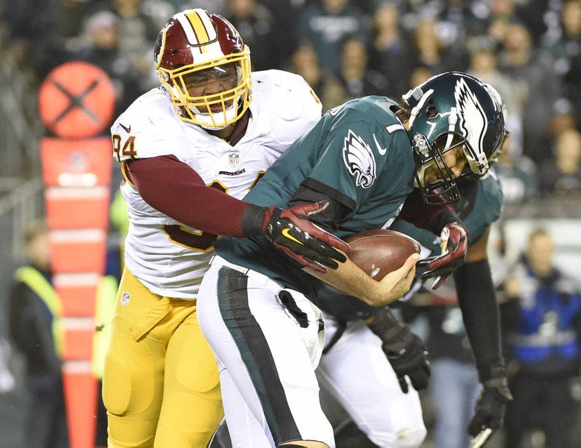 Redskins OLB Junior Galette Tears Achilles; Out for Year