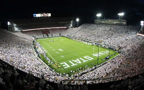 Oct 12, 2013; University Park, PA, USA; A general view of the Beaver Stadium during the third quarter between the Penn State Nittany Lions and the Michigan Wolverines. Penn State defeated Michigan 43-40 in overtime. Mandatory Credit: Matthew O'Haren- USA TODAY Sports