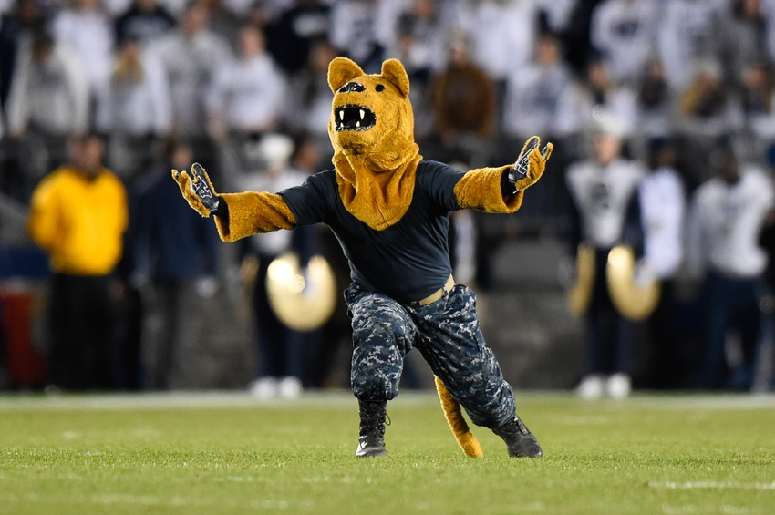 Nov 5, 2016; University Park, PA, USA; The Penn State Nittany Lion performs prior to the game against the Iowa Hawkeyes at Beaver Stadium. Penn State defeated Iowa 41-14. Mandatory Credit: Rich Barnes-USA TODAY Sports
