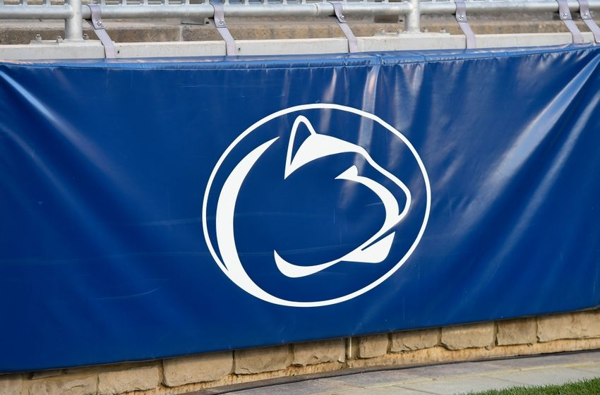 Nov 5, 2016; University Park, PA, USA; General view of the Penn State Nittany Lions logo inside Beaver Stadium prior to the game against the Iowa Hawkeyes. Penn State defeated Iowa 41-14. Mandatory Credit: Rich Barnes-USA TODAY Sports