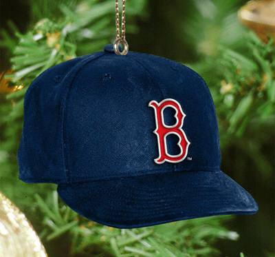 red sox hat ornament